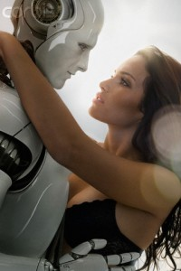 Woman Looking Lustfully at Robot